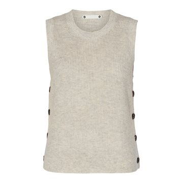 Co' Couture - Malou Button Vest - Bone