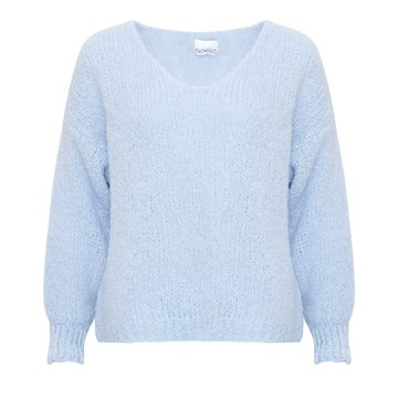 Noella - Fora Knit V-Neck Sweater - Light Blue