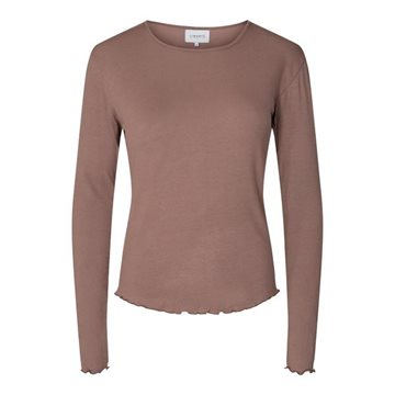 Liberté - Natalia Ls Round Neck Blouse - Light Brown
